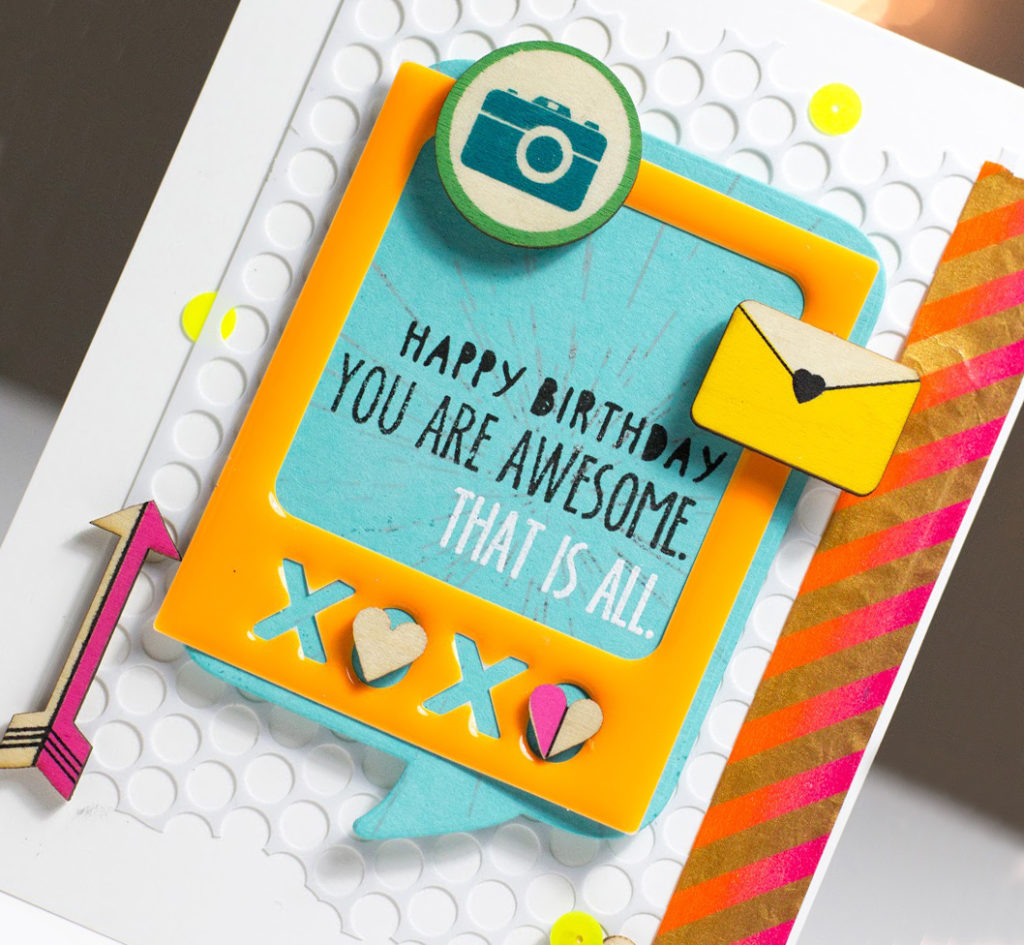 Happy Birthday You Are Awesome Card by Taheerah Atchia
