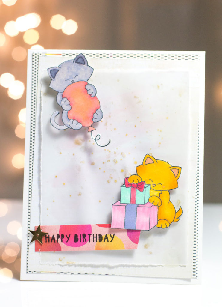 Kitties Birthday Card by Taheerah Atchia