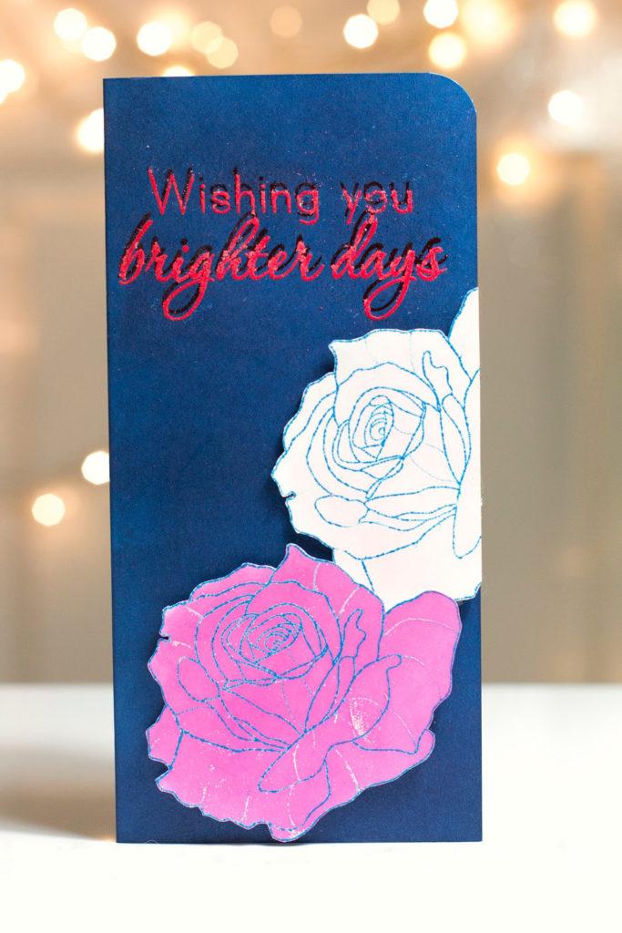 Brighter Days Roses card by Taheerah Atchia