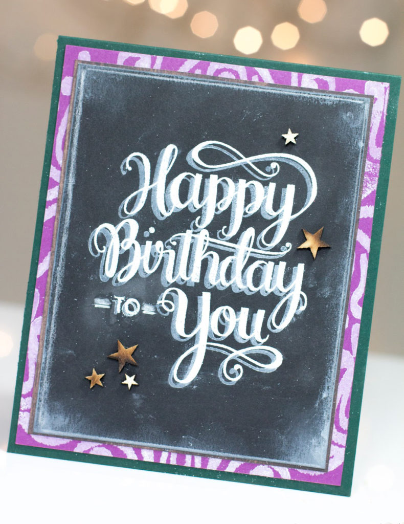 Chalkboard Birthday card by Taheerah Atchia