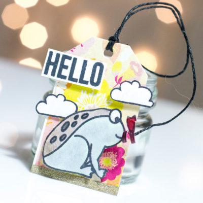 Cute Frog Hello Tag by Taheerah Atchia