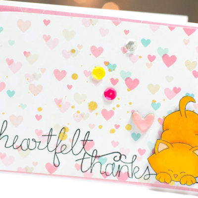 Heartfelt Thanks Kitty card by Taheerah Atchia