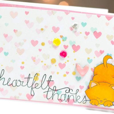 Heartfelt Thanks Kitty card by Taheerah Atchia