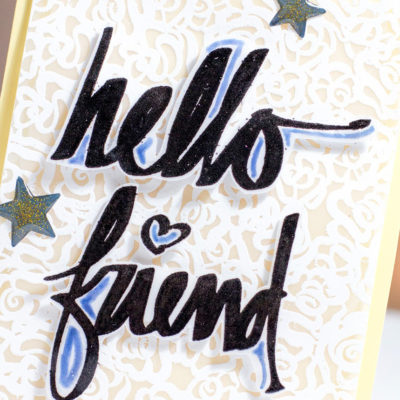 Hello Friend Lacy Card by Taheerah Atchia