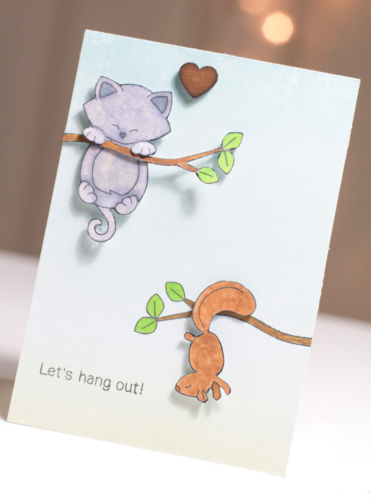 Let's Hang Out Kitty card by Taheerah Atchia