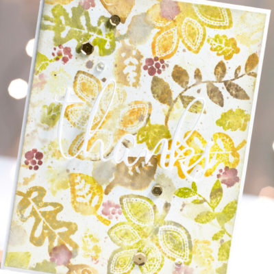 Fall Leaves Thanks card by Taheerah Atchia