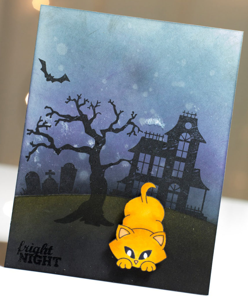 Fright Night Halloween Kitty card by Taheerah Atchia