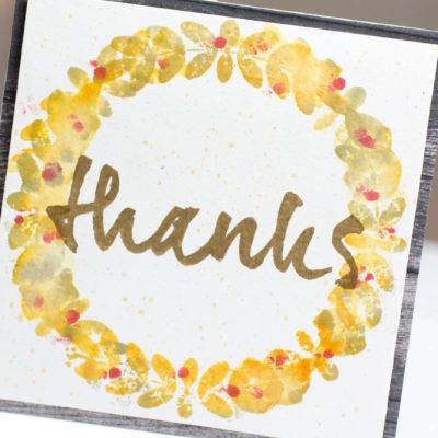 Thanks Wreath card by Taheerah Atchia