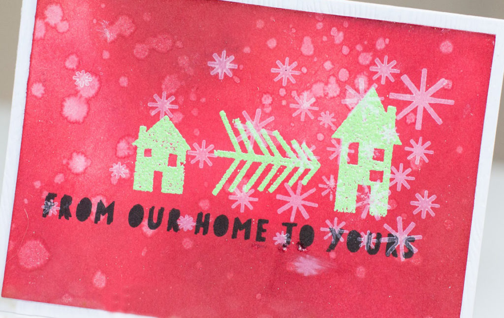From Our Home to Yours Christmas card by Taheerah Atchia