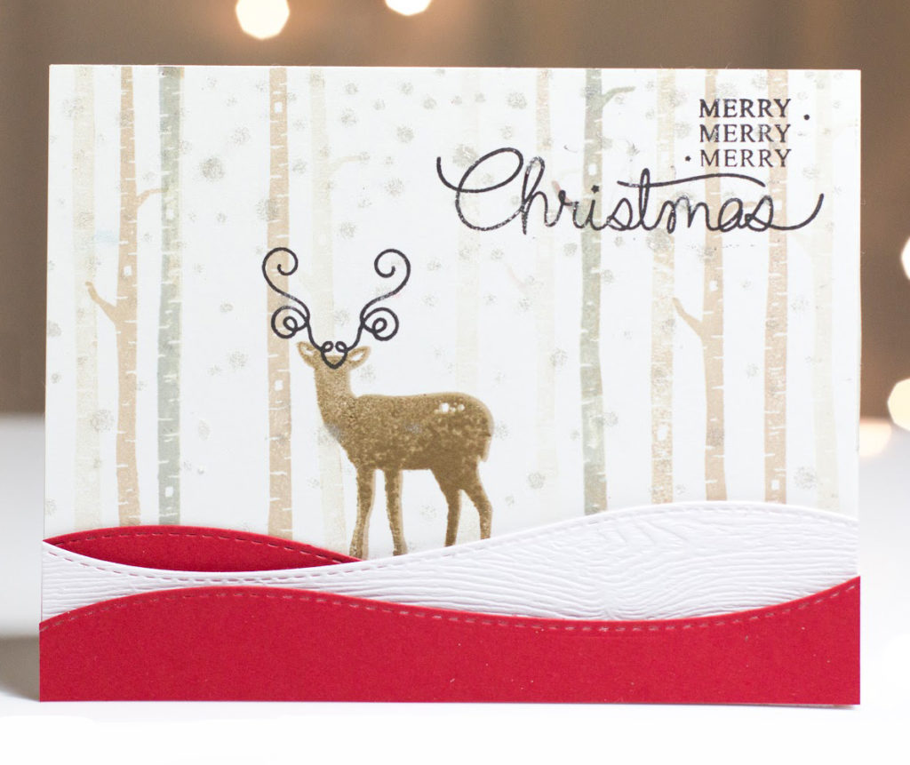 Merry Christmas Deer card by Taheerah Atchia