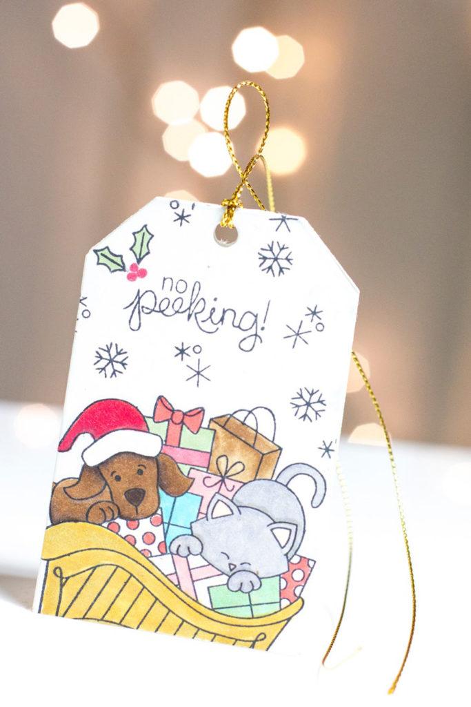 No Peeking Christmas Tag by Taheerah Atchia