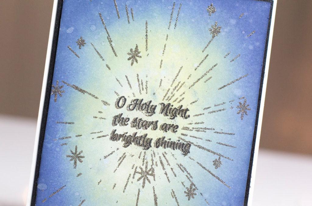 O Holy Night Christmas card by Taheerah Atchia