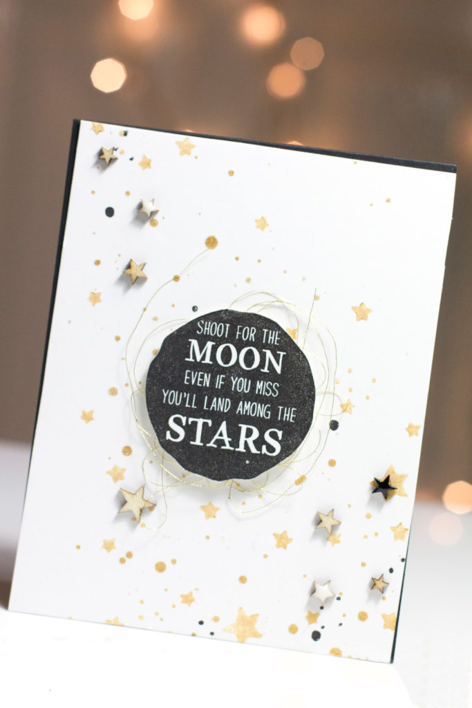 Shoot For The Moon Encouragement card by Taheerah Atchia
