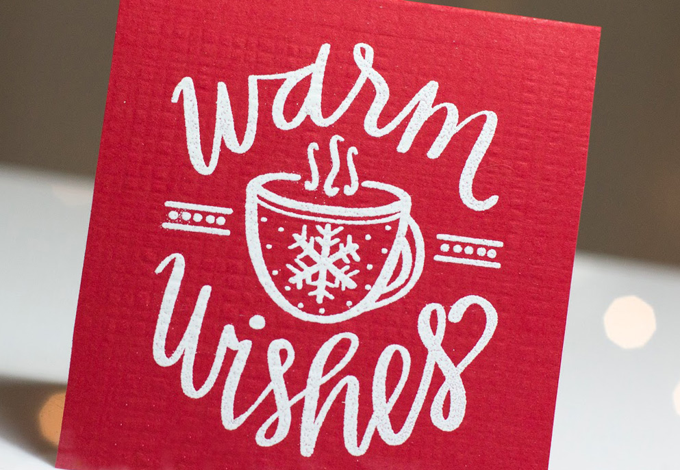 Warm Wishes card by Taheerah Atchia