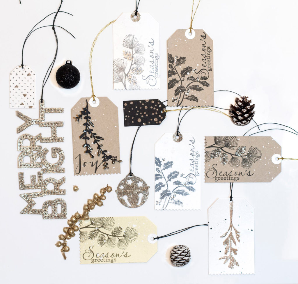 Gold, Cream, Kraft, Black Classy Christmas Tag Collection by Taheerah Atchia