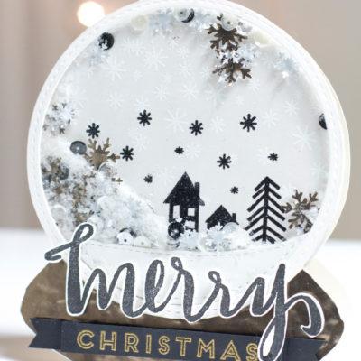 Merry Christmas Shaker Globe Card by Taheerah Atchia