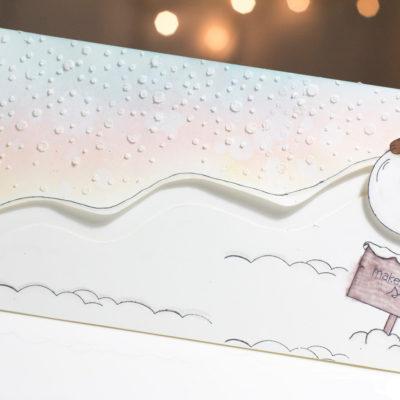 Snowball Bear Spinner card by Taheerah Atchia