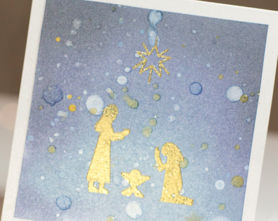 Nativity Scene Christmas card by Taheerah Atchia