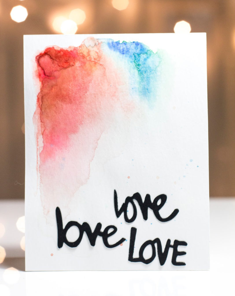Abstract Painting Love card by Taheerah Atchia