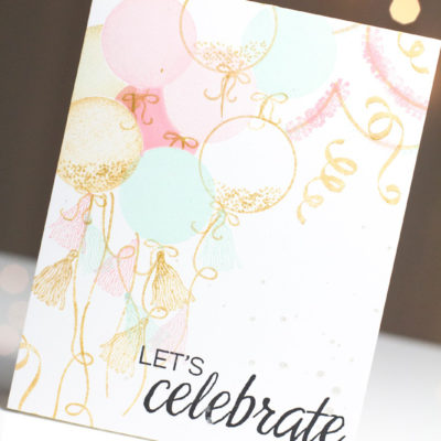 Celebration Balloons card by Taheerah Atchia