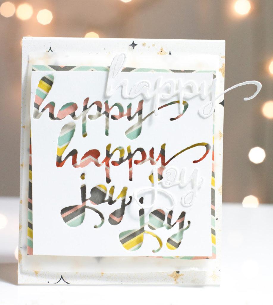 Happy Happy Joy Joy card by Taheerah Atchia