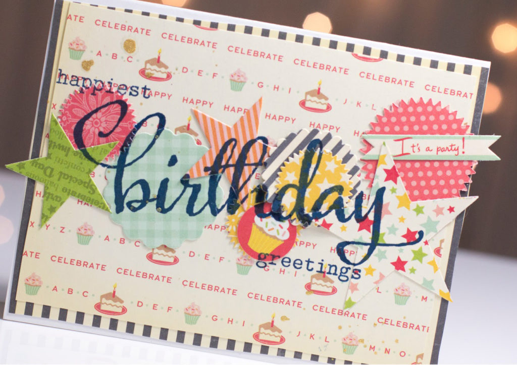 Layered Shapes Birthday card by Taheerah Atchia