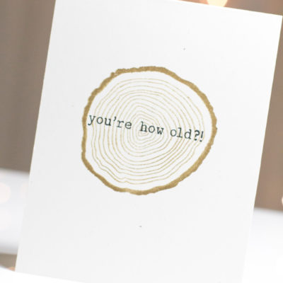 Tree Rings Birthday card by Taheerah Atchia
