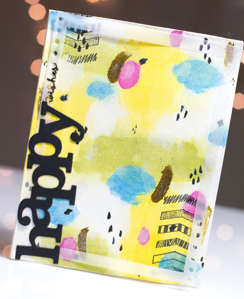 Arty Abstract Happy Wishes card by Taheerah Atchia