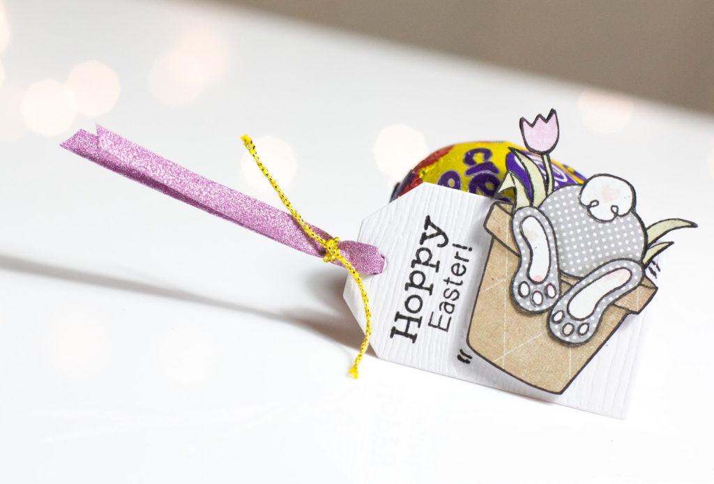 Bunny Hop Easter Tag by Taheerah Atchia