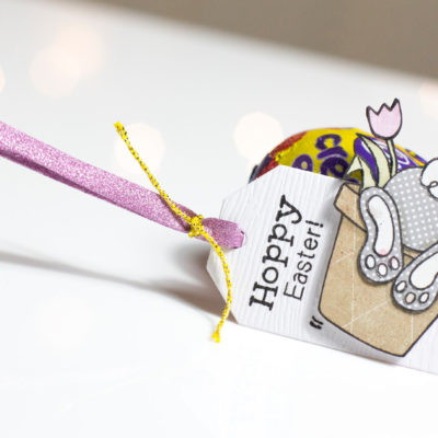Bunny Hop Easter Tag by Taheerah Atchia