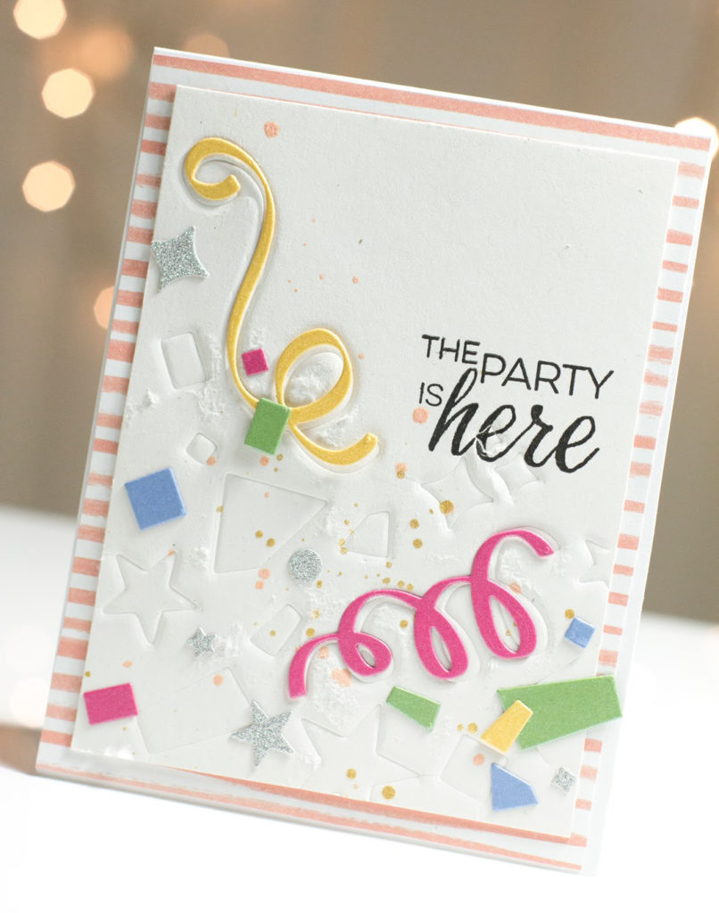 Confetti Party card by Taheerah Atchia