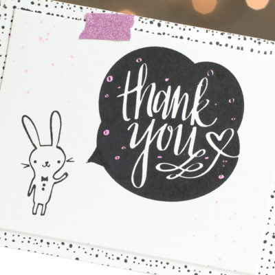 Cute Rabbit Thank You card by Taheerah Atchia