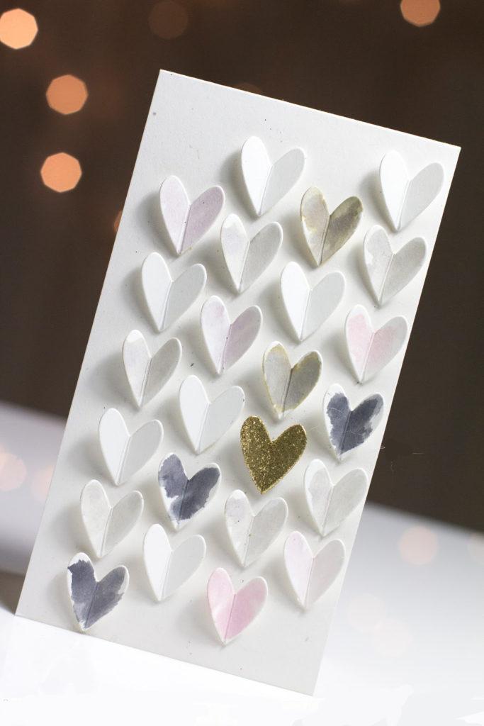 Falling Hearts card by Taheerah Atchia