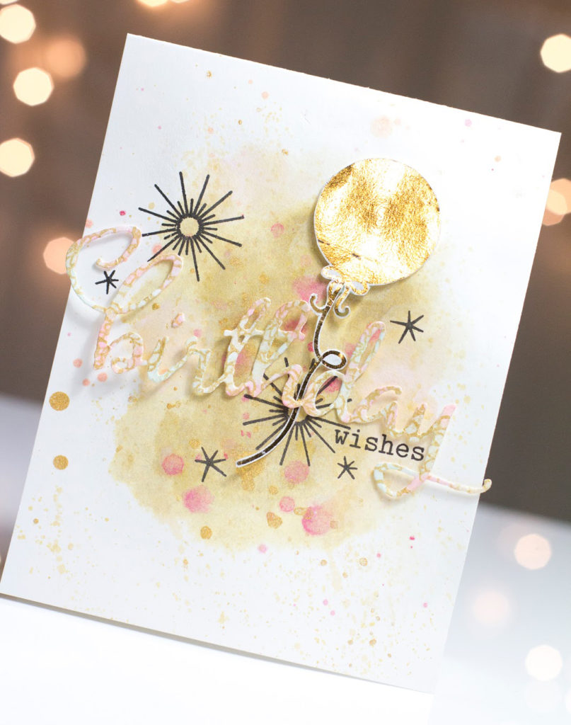 Golden Birthday Wishes card by Taheerah Atchia