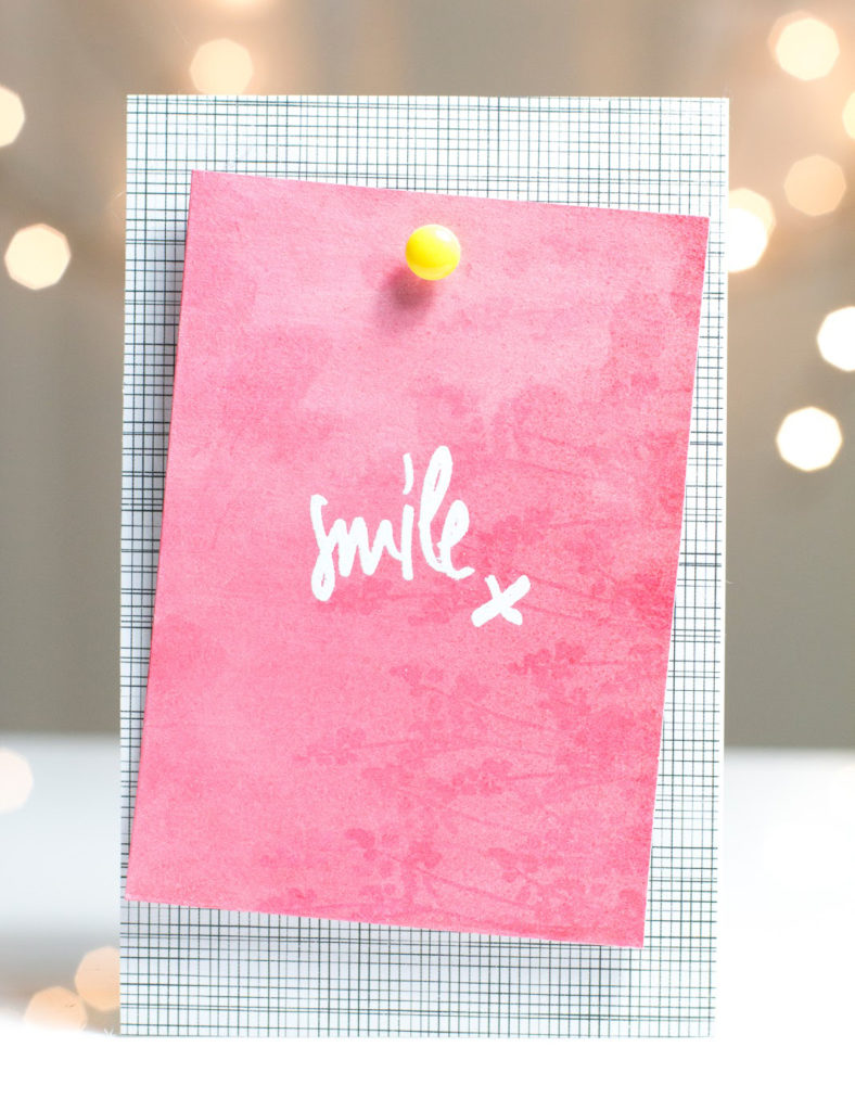 Smile Note card by Taheerah Atchia