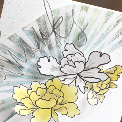Sunburst Floral Thanks card by Taheerah Atchia