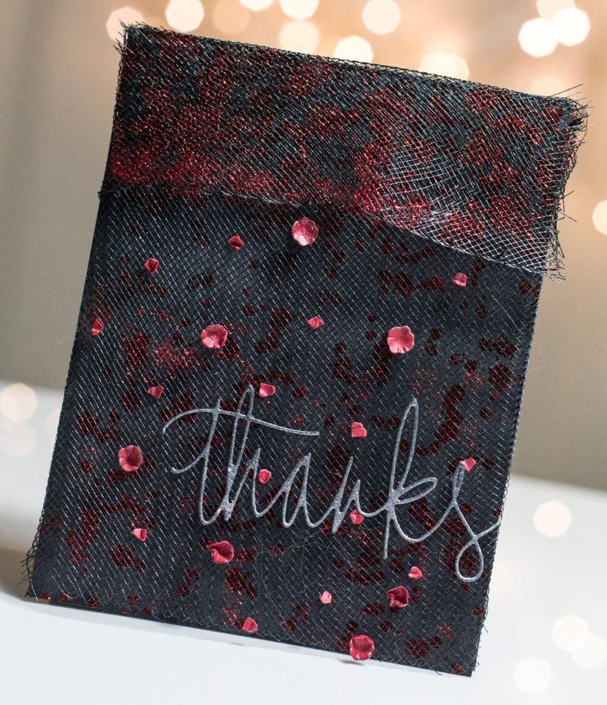 Lacy Floral Thanks card by Taheerah Atchia
