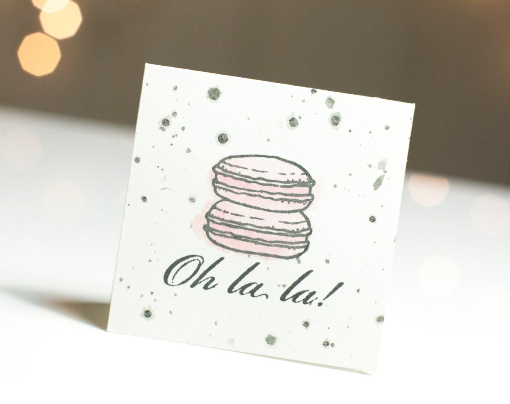 Sweet Macarons card by Taheerah Atchia