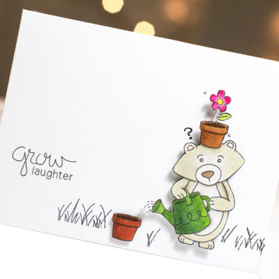 Grow Laughter card by Taheerah Atchia