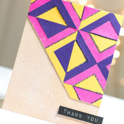 Bold Geometric Thank You card by Taheerah Atchia