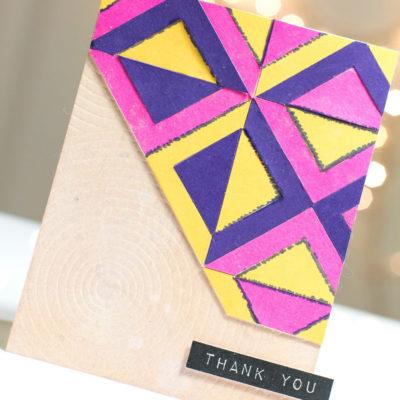Bold Geometric Thank You card by Taheerah Atchia