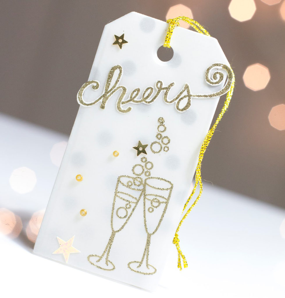Champagne Cheers Tag by Taheerah Atchia
