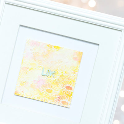 Floral Love Framed Art by Taheerah Atchia
