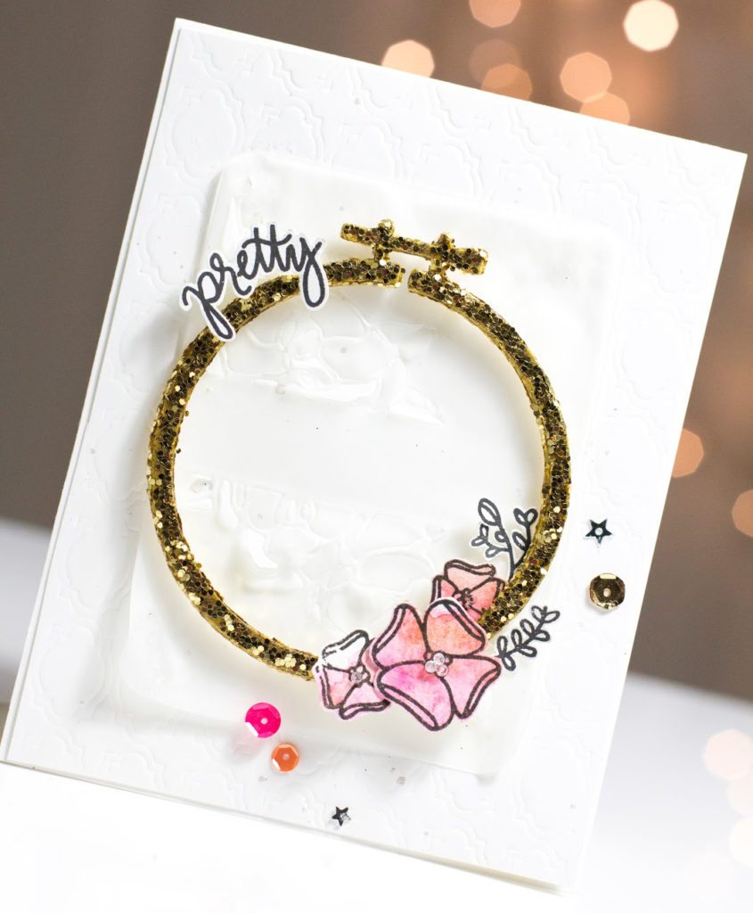 Pretty Hoop card by Taheerah Atchia