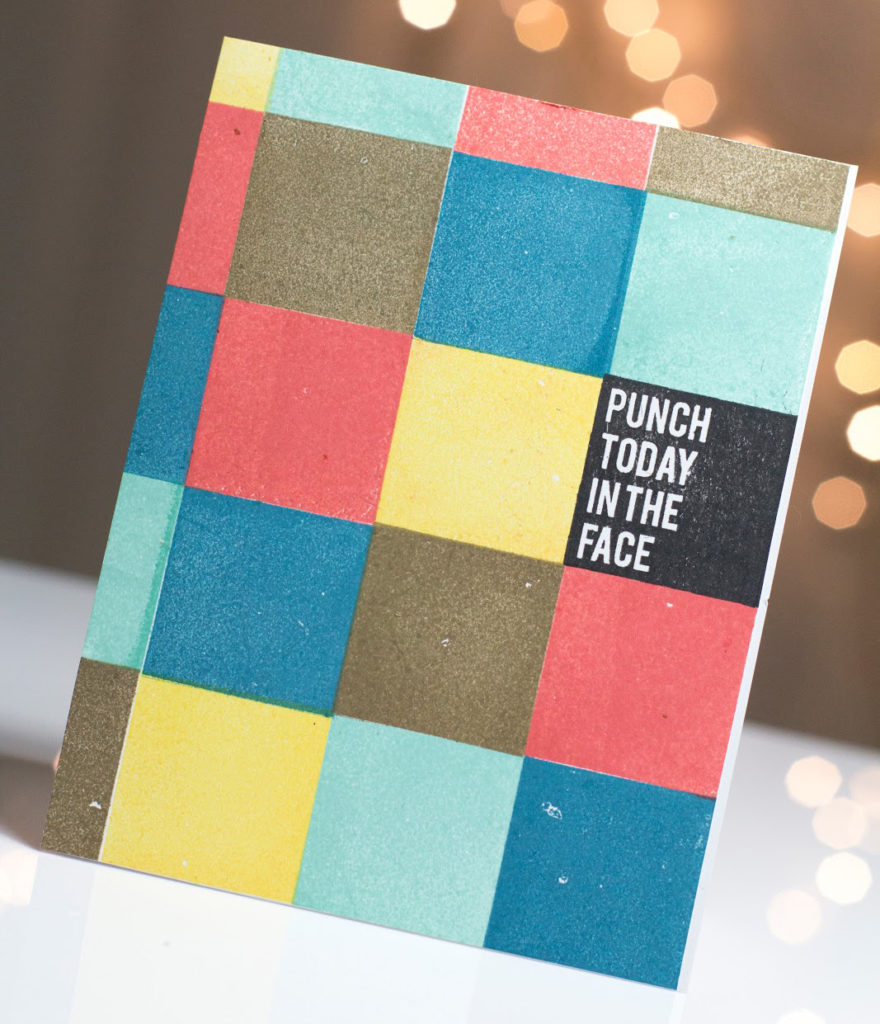 Punch Today in The Face card by Taheerah Atchia