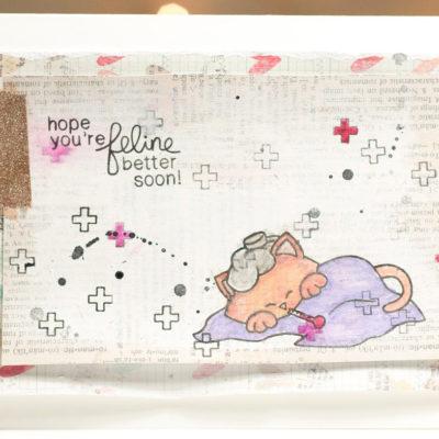 Sick Kitty card by Taheerah Atchia