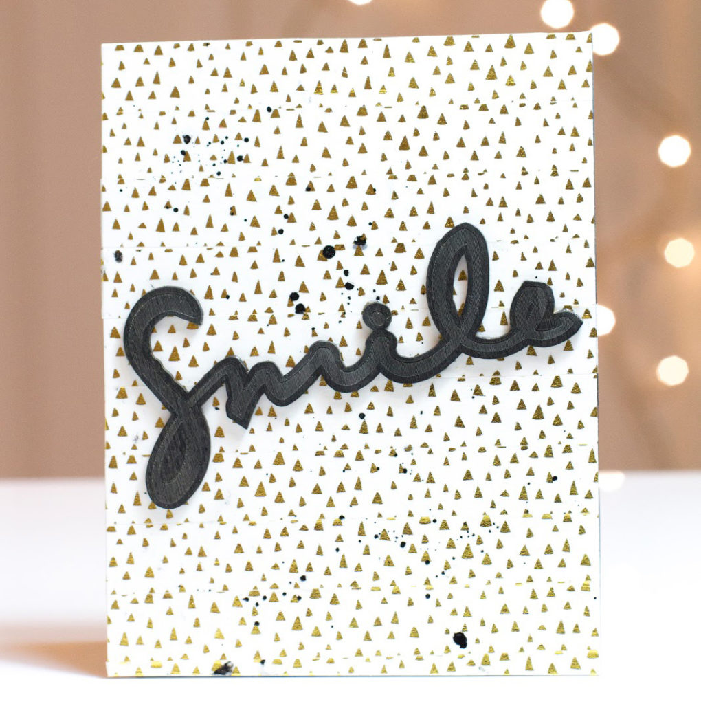 Black & Gold Smile card by Taheerah Atchia