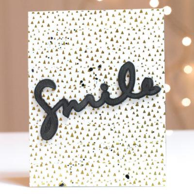 Black & Gold Smile card by Taheerah Atchia