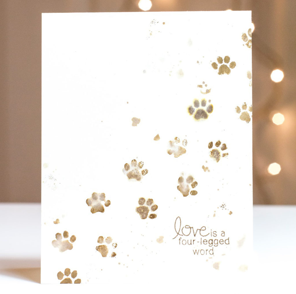 Muddy Paw Prints card by Taheerah Atchia
