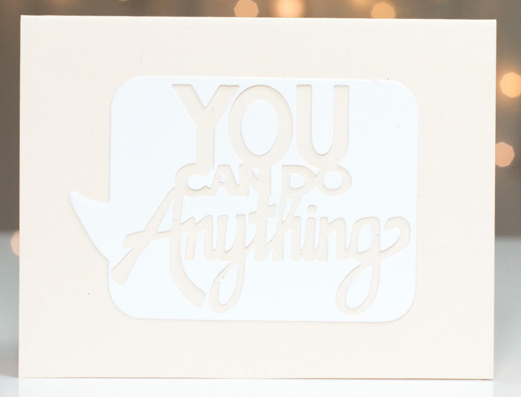 You Can Do Anything card by Taheerah Atchia